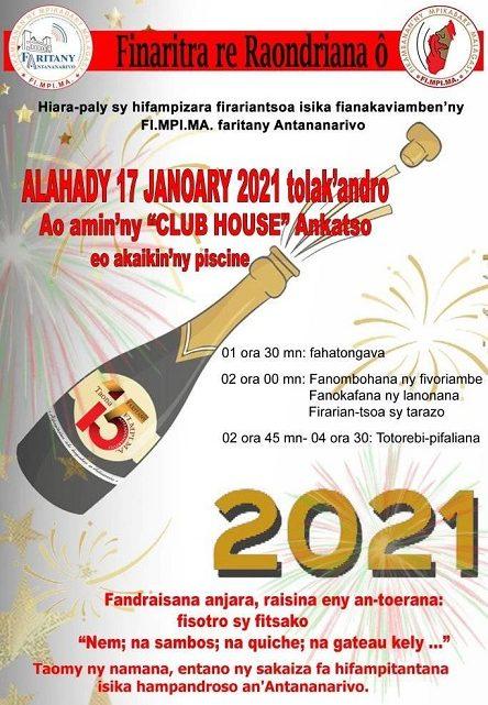 FARITANY ANTANANARIVO FIFAMPIZARANA FIRARIAN-TSOA alahady 17 janoary 2021 tolak'andro ao @ CLUBHOUSE Ankatso