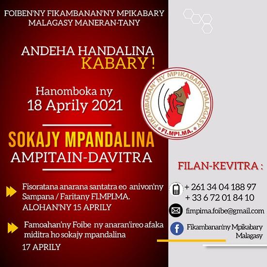 Fisoratana anarana Sokajy MPANDALINA iandraiketan'ny FI.MPI.MA. Foibe taona 2021 / 2022