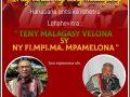 FANOKAFANA NY IRAY VOLAN'NY TENY MALAGASY SABOTSY 05 JONA 2021 @ 4ora – 6ora hariva (Ora Madagasikara)